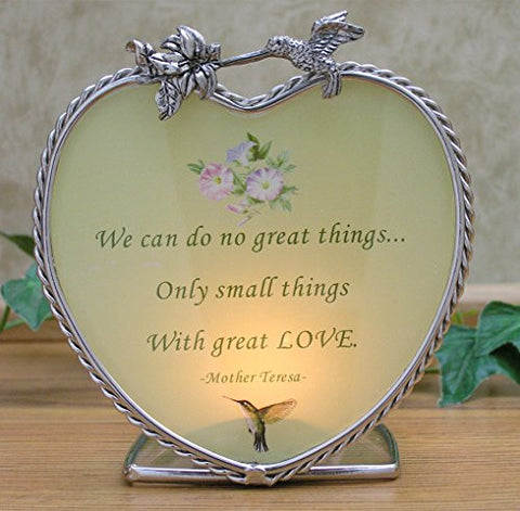 Candle Holder with Mother Teresa Quote - Inspirational Message