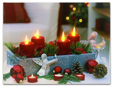 Christmas Themed LED Lighted Canvas Print(2545)