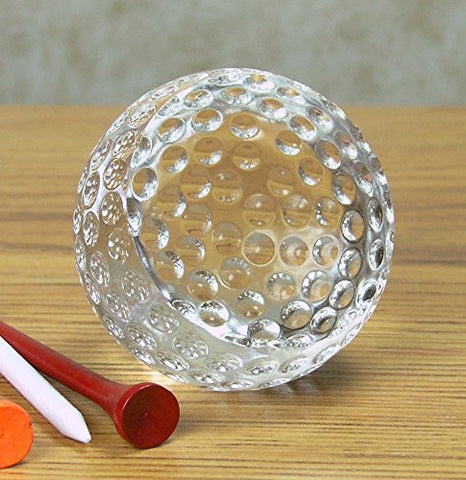 Glass Golf Ball Paperweight