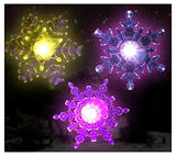 Snowflake Coloring Changing Led Lights -- Snowflakes with Suction Cups Attached