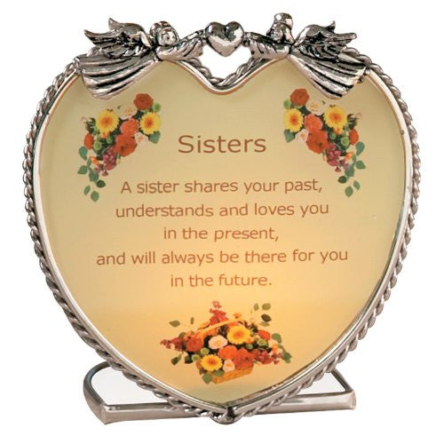 Get Well Soon My Sister Quotes: Sisters Candle Holder With Touching Poem(1883)