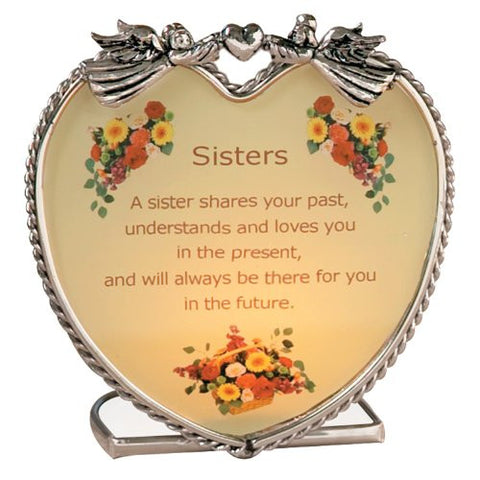 Sisters Candle Holder with Touching Poem