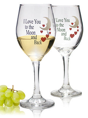 I Love You to the Moon and Back Glasses - Set 2(6040)