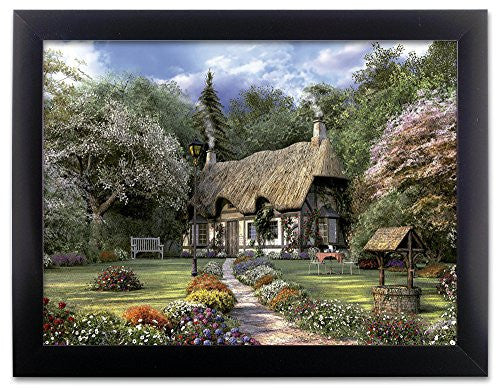 Country Cottage Garden Flowers 3D Holographic Framed Poster