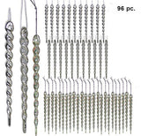 Silver and Clear Iridescent Icicle Ornaments(3529)