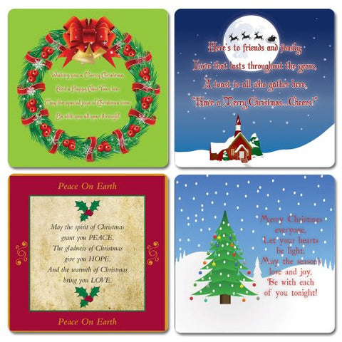 Christmas Holiday Coasters Drink Coaster Set