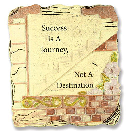 Success Is a Journey Not a Destination Inspirational Desktop Plaque