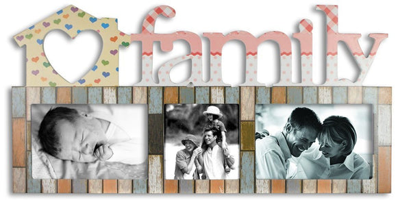Wood Family Wall Hanging Photo Frame Decoration