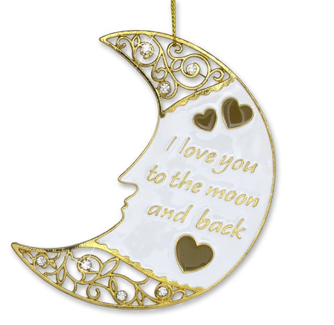 Gold Moon Ornament I Love You to the Moon and Back(2841)