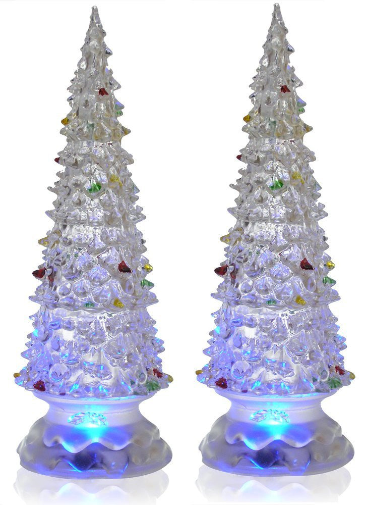Lighted Christmas Trees - Set of 2 Color Changing LED ...