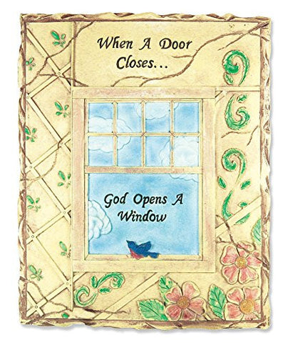 Religious Plaque - When a Door Closes God Opens a Window