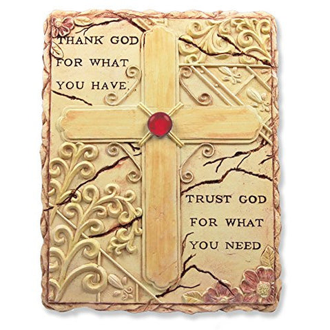 Religious Inspirational Wall Art Sign Hanging Plaque