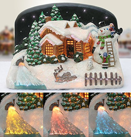 Christmas Snow Village Fiber Optic House