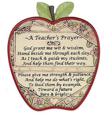 "Teacher Apple Plaque ""A Teacher's Prayer"""