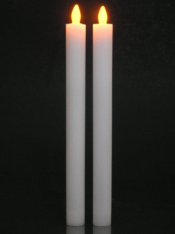 LED Flameless Flickering Taper Candles with Timer