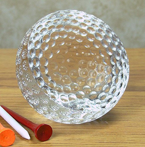 Crystal Golf Ball Paperweight With Engravable Front