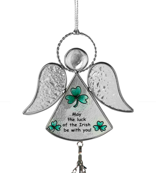 Irish Angel Suncatcher Wind Chime Stained Glass