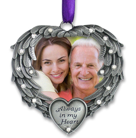 Memorial Photo Ornament - Always in my Heart(2843)