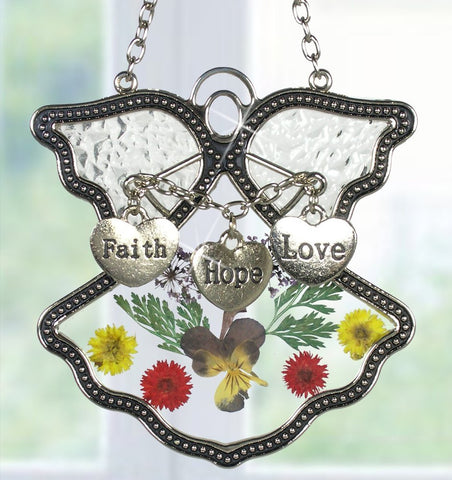 Faith Hope Love Angel Suncatcher(2442)