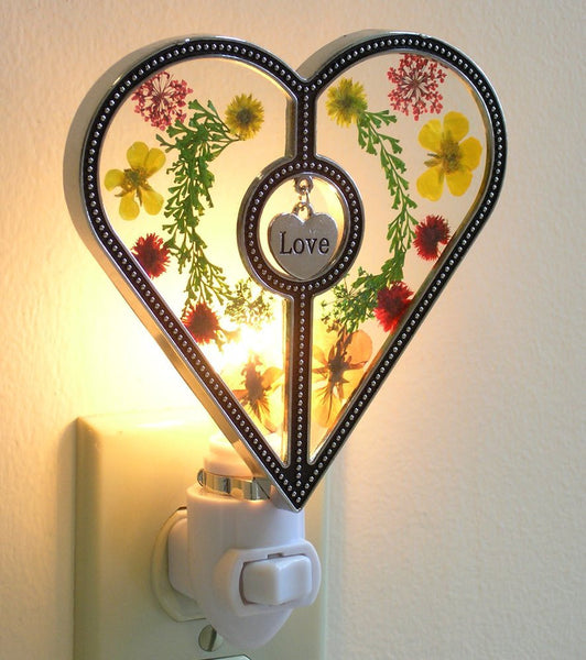 Heart Nightlight with Love Charm