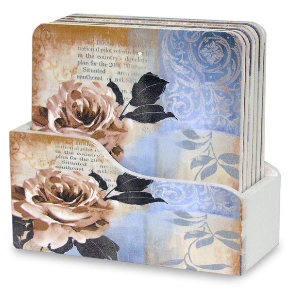 Drink Coasters with Holder - Set of 6(2155)