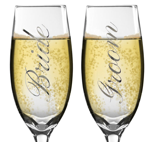 Bride and Groom Glasses