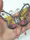 mom butterfly suncatcher glass and metal small fit in your hand
