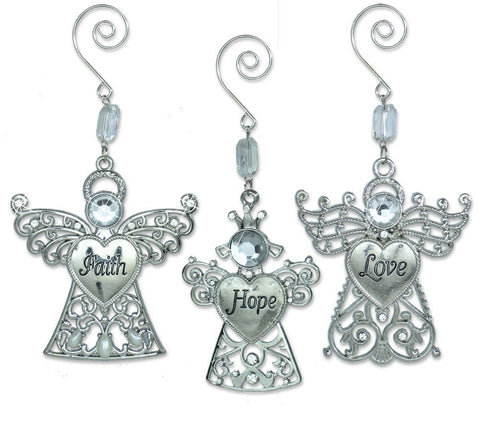 Faith Hope Love Angel Wing Ornaments(2829)