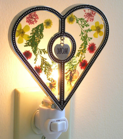 Mom Heart Night Light