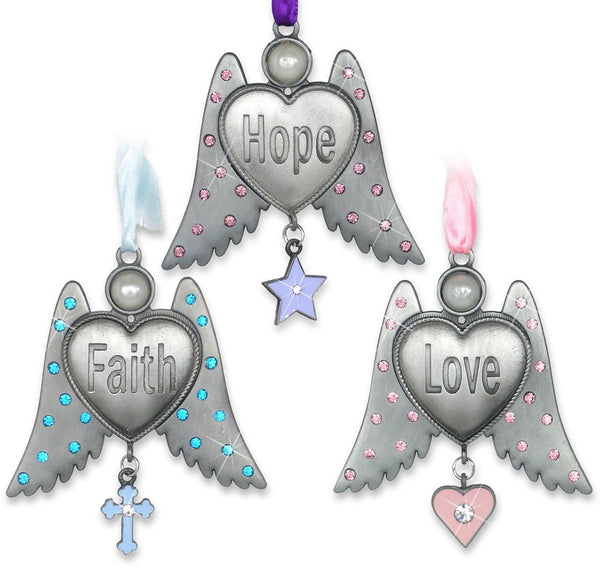 Faith Hope Love Angel Wing Ornaments(2833)