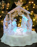 Lighted Nativity Scene with Angel