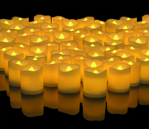 LED Lighted Flickering Votive Style Flameless Candles Box of 144 - Wedding Decorations -  Centerpieces