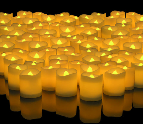 LED Lighted Flickering Votive Style Flameless Candles Box of 192 - Wedding Decorations - Centerpieces