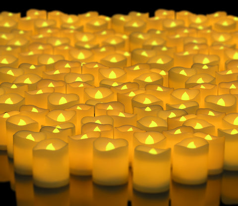 LED Lighted Flickering Votive Style Flameless Candles Box of 288 - Wedding Decorations - Centerpieces
