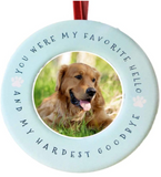 Pet Memorial Christmas Ornament – You Were My Favorite Hello and My Hardest Goodbye
