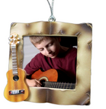 Guitar Frame - Picture Christmas Ornament for a Guitar Player - Hanging or Desktop Acoustic Guitar Frame- Music Teacher Gifts