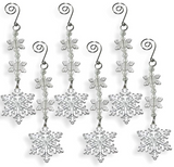 Snowflake Ornaments - Set of 6 Clear Acrylic Drop Ornaments - Snowflake Decorations