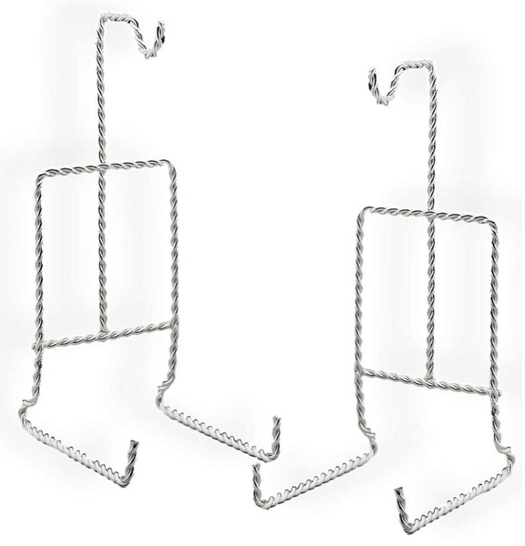 Cup and Saucer Stand Twisted Silver - Two Pack - Display Stand