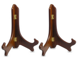 Wood Easels Folding Display Plate Stand Premium Quality Walnut - 9 Inch - Set of 2 Pieces