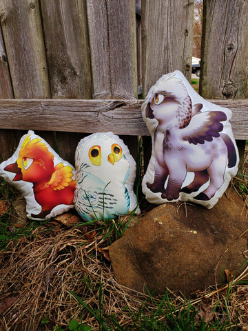 Snowy Owl, Phoenix or Hippogriff Pillow Pal.