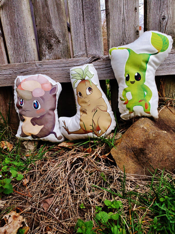 Erumpent, Mandrake or Bowtruckle Pillow Pal.