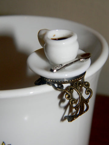 Tea Time Fashion Ring. Adult One Size Fits Most.