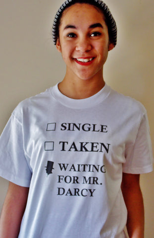 Waiting for Mr. Darcy T-Shirt. Unisex Jane Austen Pride and Prejudice T-Shirt.
