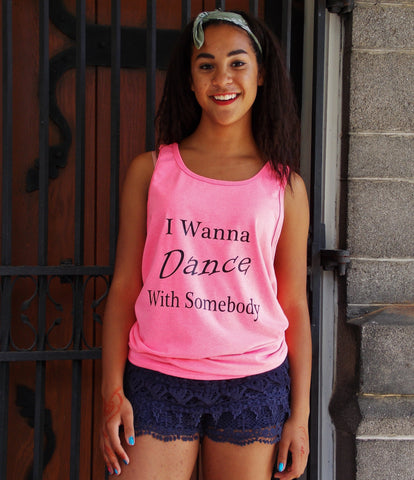 Dance With Somebody Unisex Tank Top.