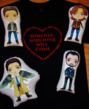 Supernatural Character Pillow Pals. Choose Your Pal. Sam, Dean, Castiel or Crowley.