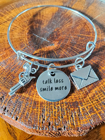Hamilton Talk Less Smile More Bangle