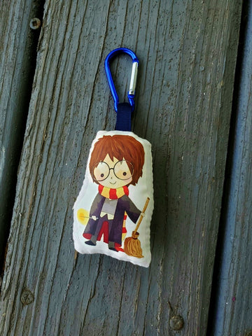 Harry Potter Stuffy Clip. Key Clip.
