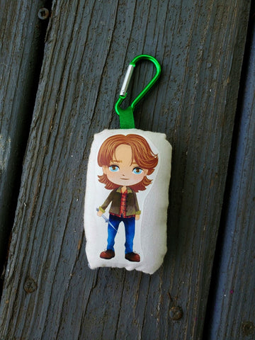 Supernatural Sam Winchester Stuffy Clip. Key Clip.