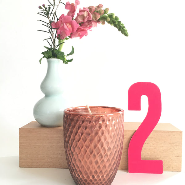 Ceramic Copper Candle in Rosemary Mint