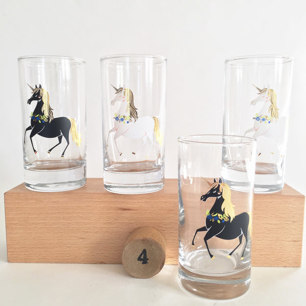 Unicorn Glasses Set of 4
